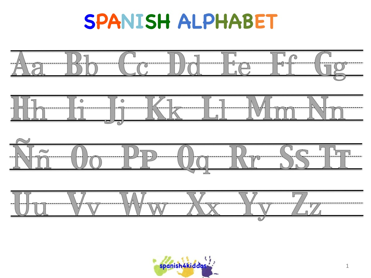 Spanish Alphabet Writing Lesson - Spanish4Kiddos Tutoring Services