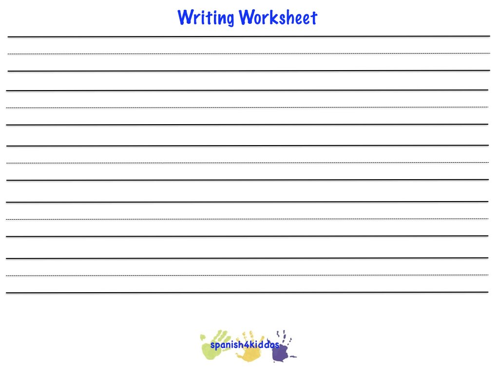writing practice worksheet
