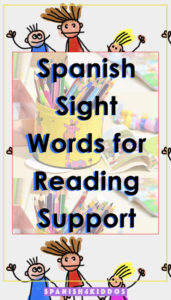 Spanish sight words lists