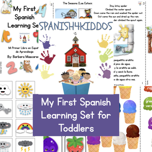 My First Spanish Learning Set for Toddlers